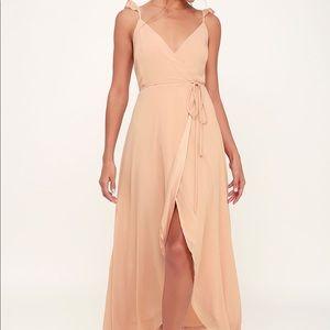 Lulu's Blush Pink High Low Dress